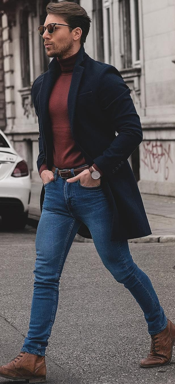 Trendy Turtle Neck Outfit Ideas For Men