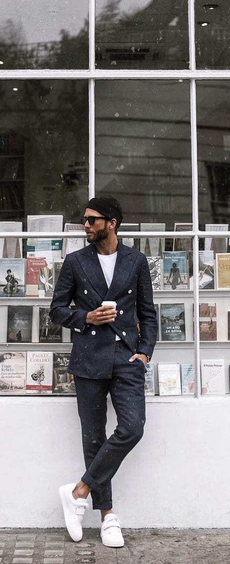 Suits With Sneakers Outfit Ideas To Try Now