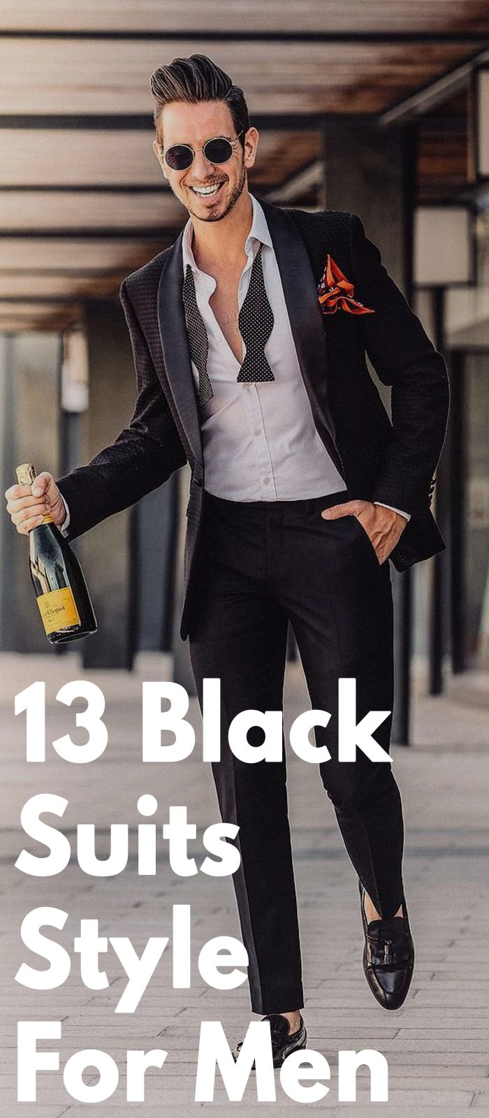 13 Ways To Style Black Suits The Right Way