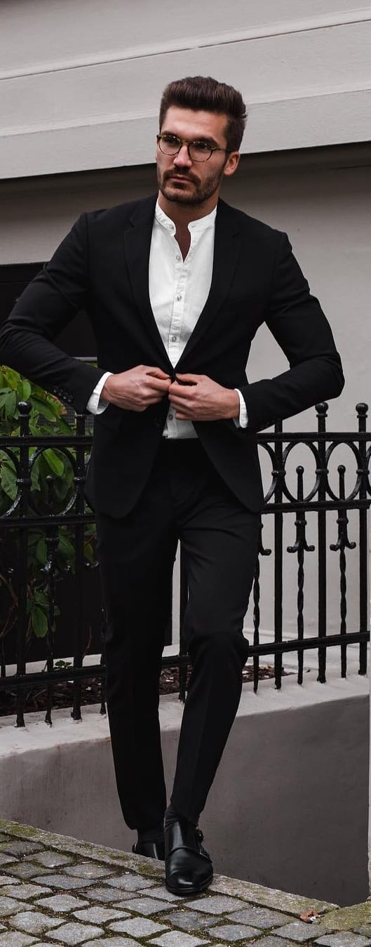 Black Suit Outfit Ideas For Men In 2019