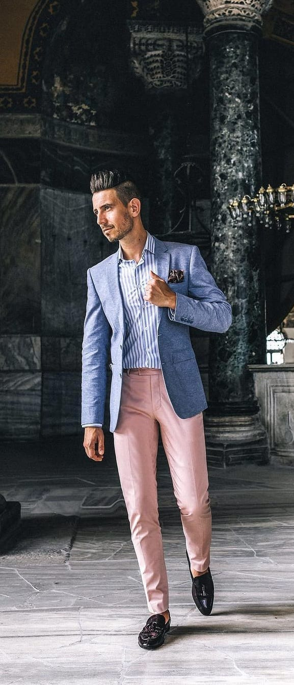 Pastel Suits Outfit Ideas For Guys