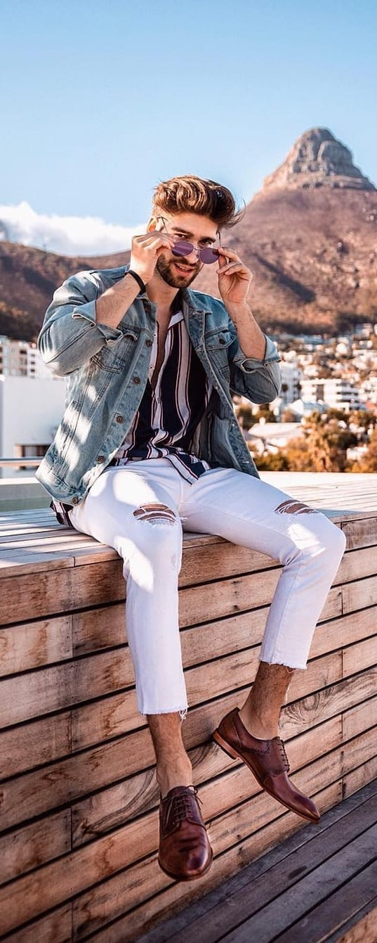 Cool White Jeans Outfit Ideas For Men