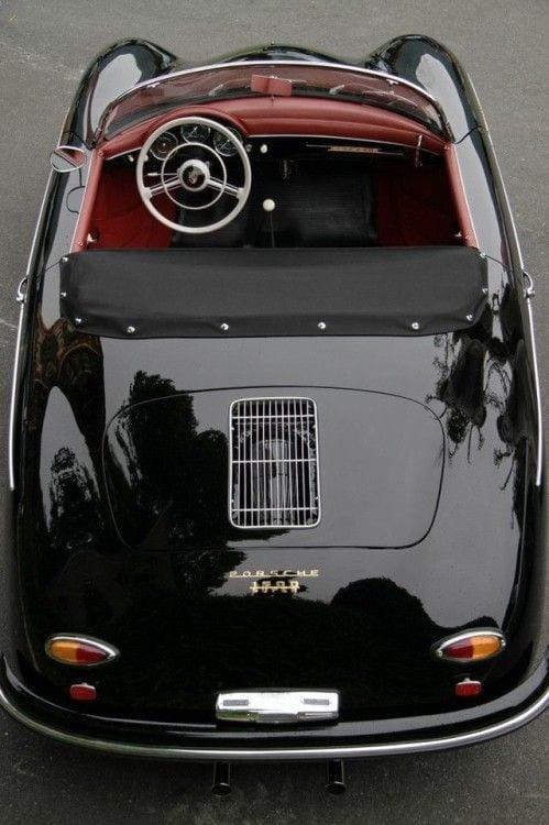 PORSCHE BLACK CHROME VINTAGE CAR