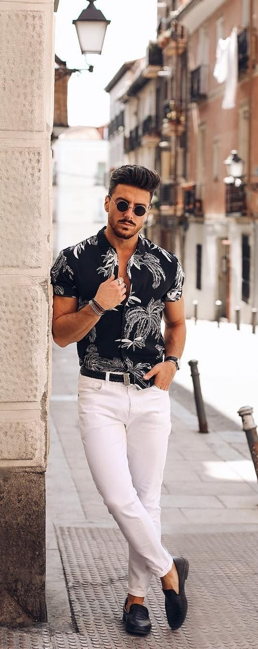 Simple White Jeans Outfit Ideas For Men