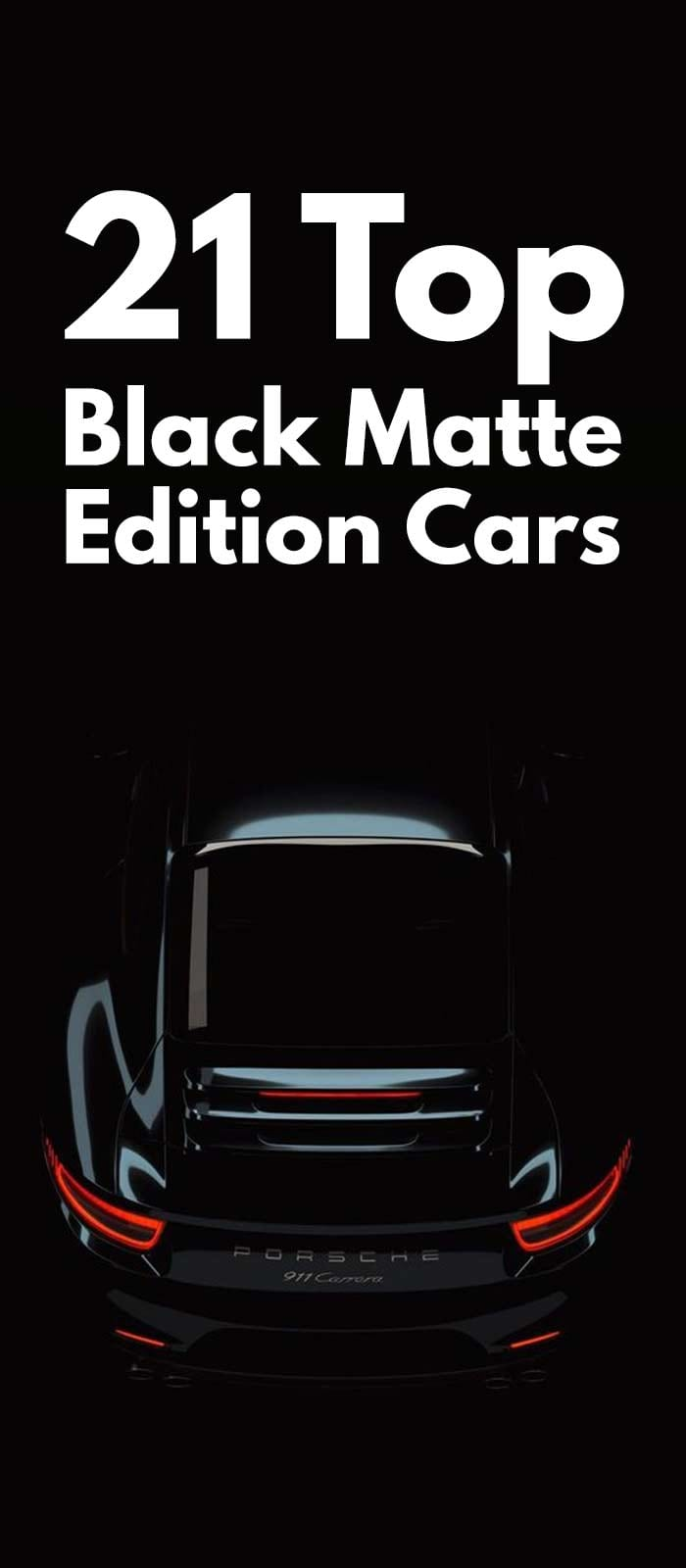 TOP BLACK MATTE EDITION CARS!