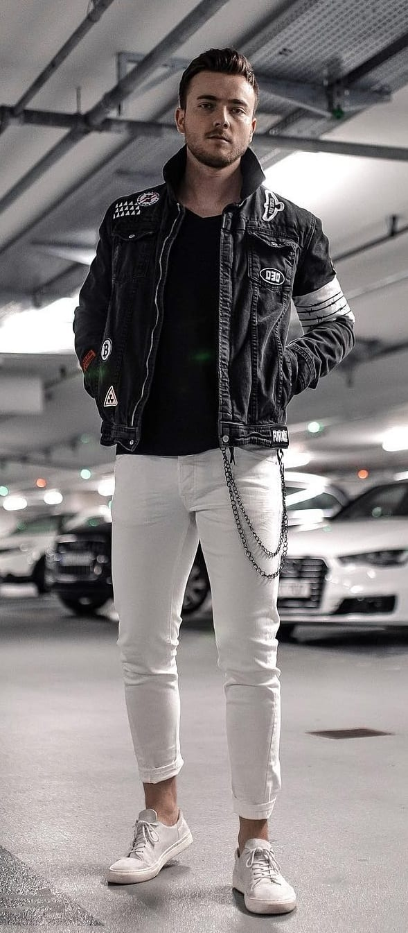 Trendy White Jeans Outfit Ideas For Men