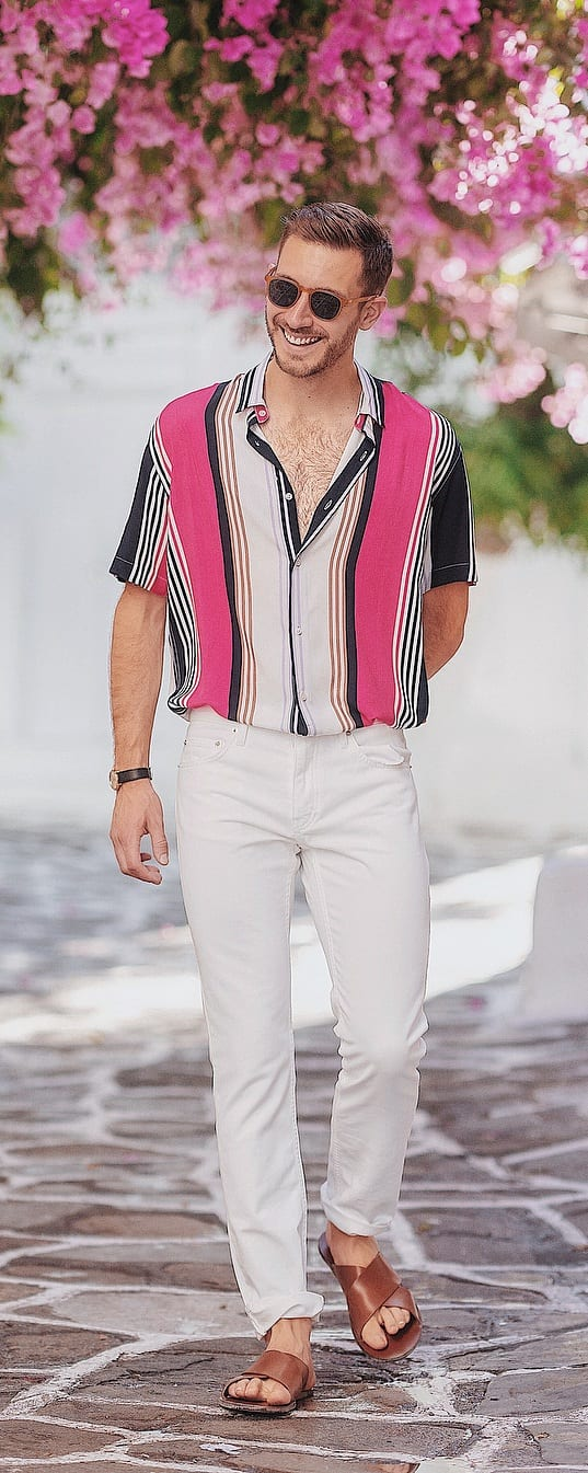 White Jeans Outfit Ideas For Guys