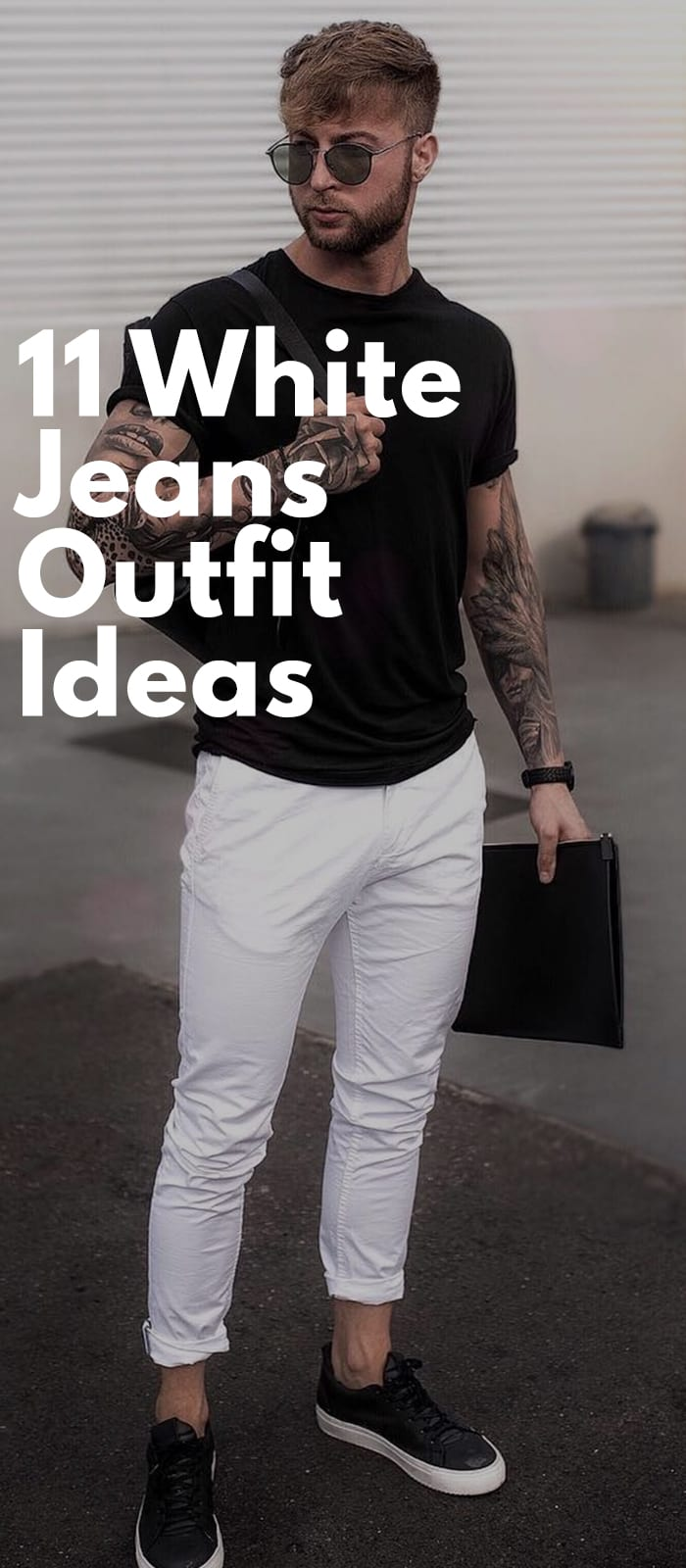 White Jeans Outfits For Men.