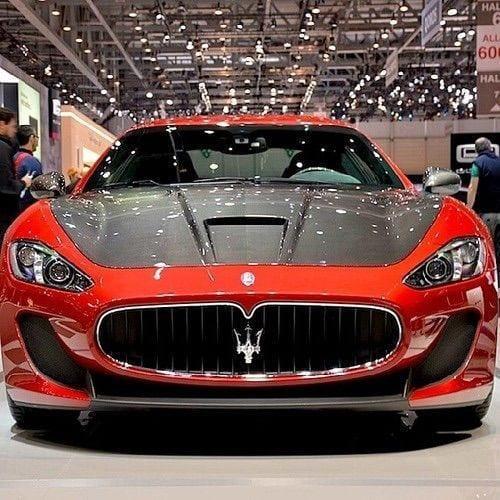maserati red and black custom car