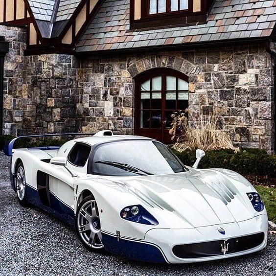 maserati sports white car