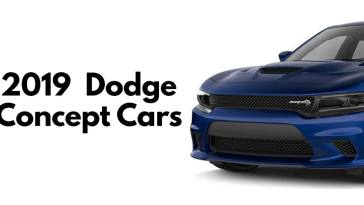 2019 Dodge concept cars