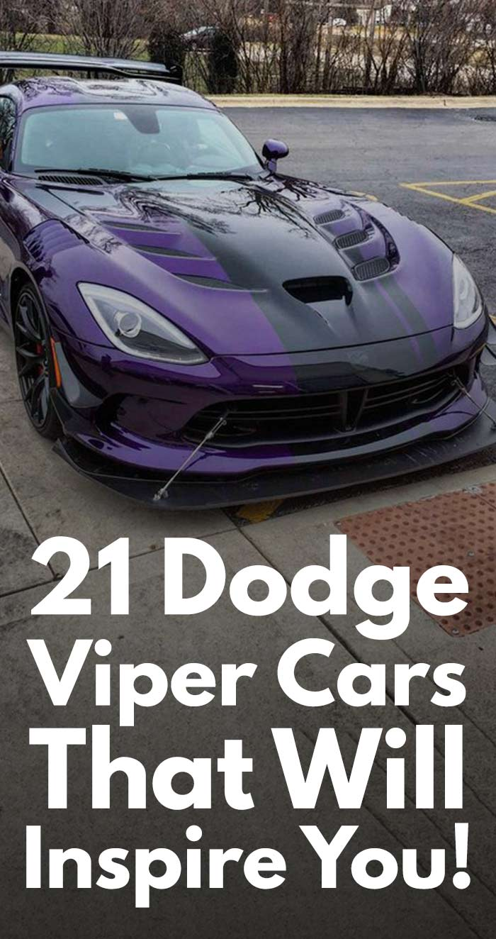 21 Dodge Viper Cars That Will Inspire You