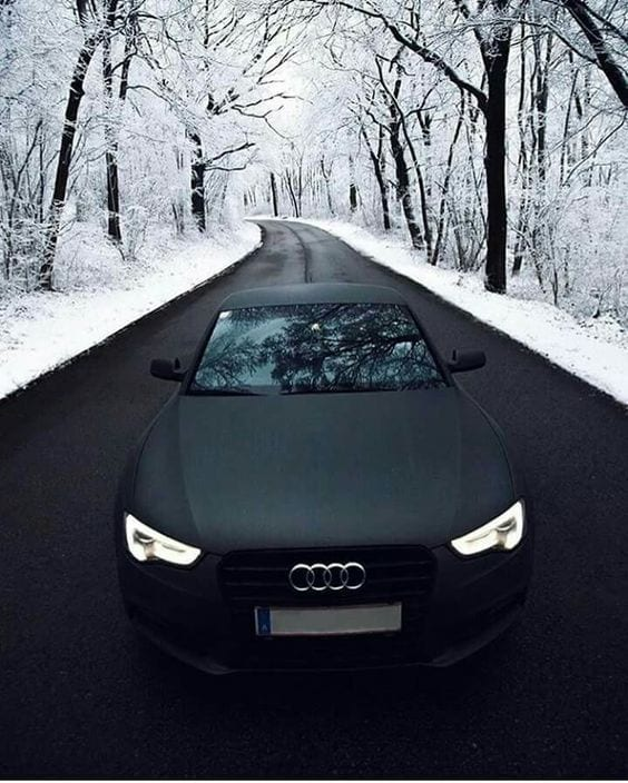 AUDI BLACK luxury car