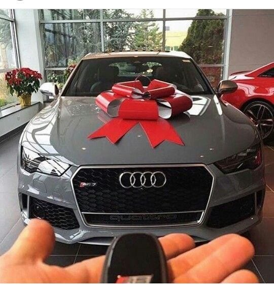 Audi with a bow
