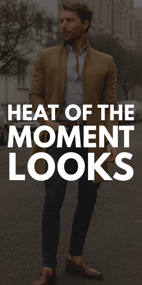 Beige Jacket,White shirt,Blue denim outfit for men