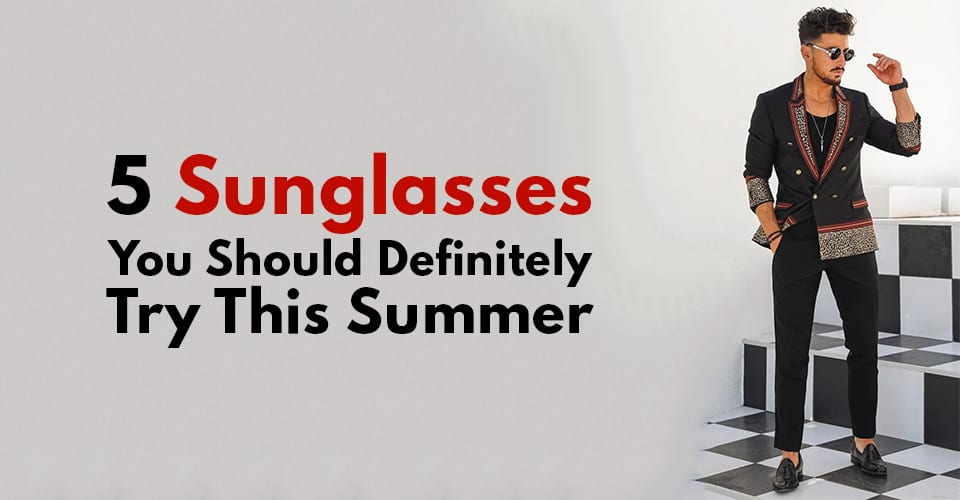 Black Printed jacket and Round Sunglasses for men