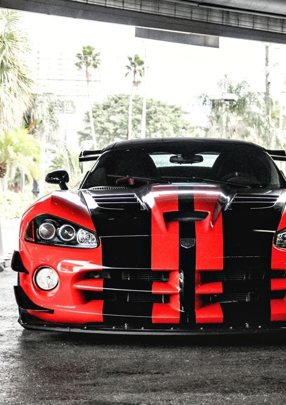DODGE VIPER RED CUSTOM CAR