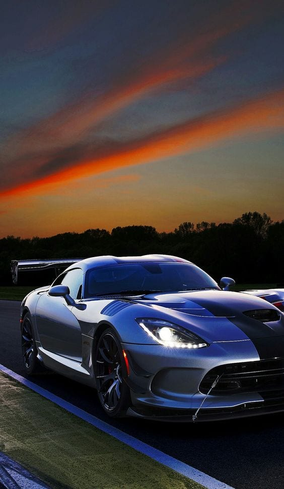 DODGE VIPER SUNSET WALLPAPER
