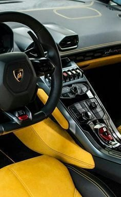LAMBORGHINI INTERIOR YELLOW