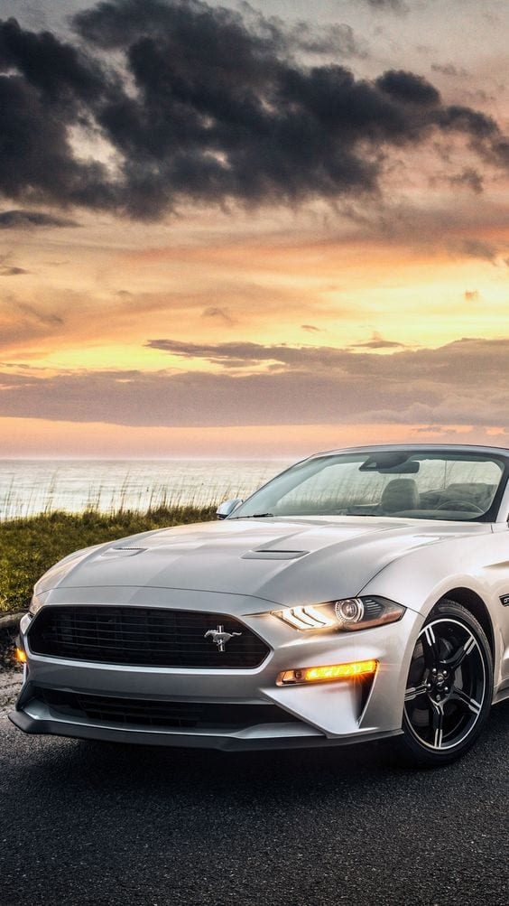 MUSTANG GREY SUNSET WALLPAPER