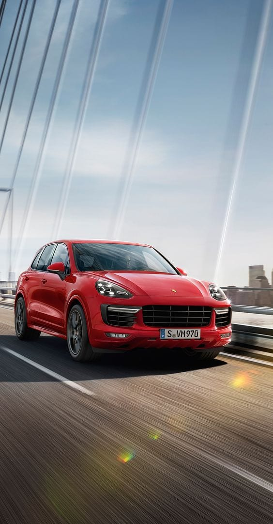PORSCHE RED Cayenne Turbo