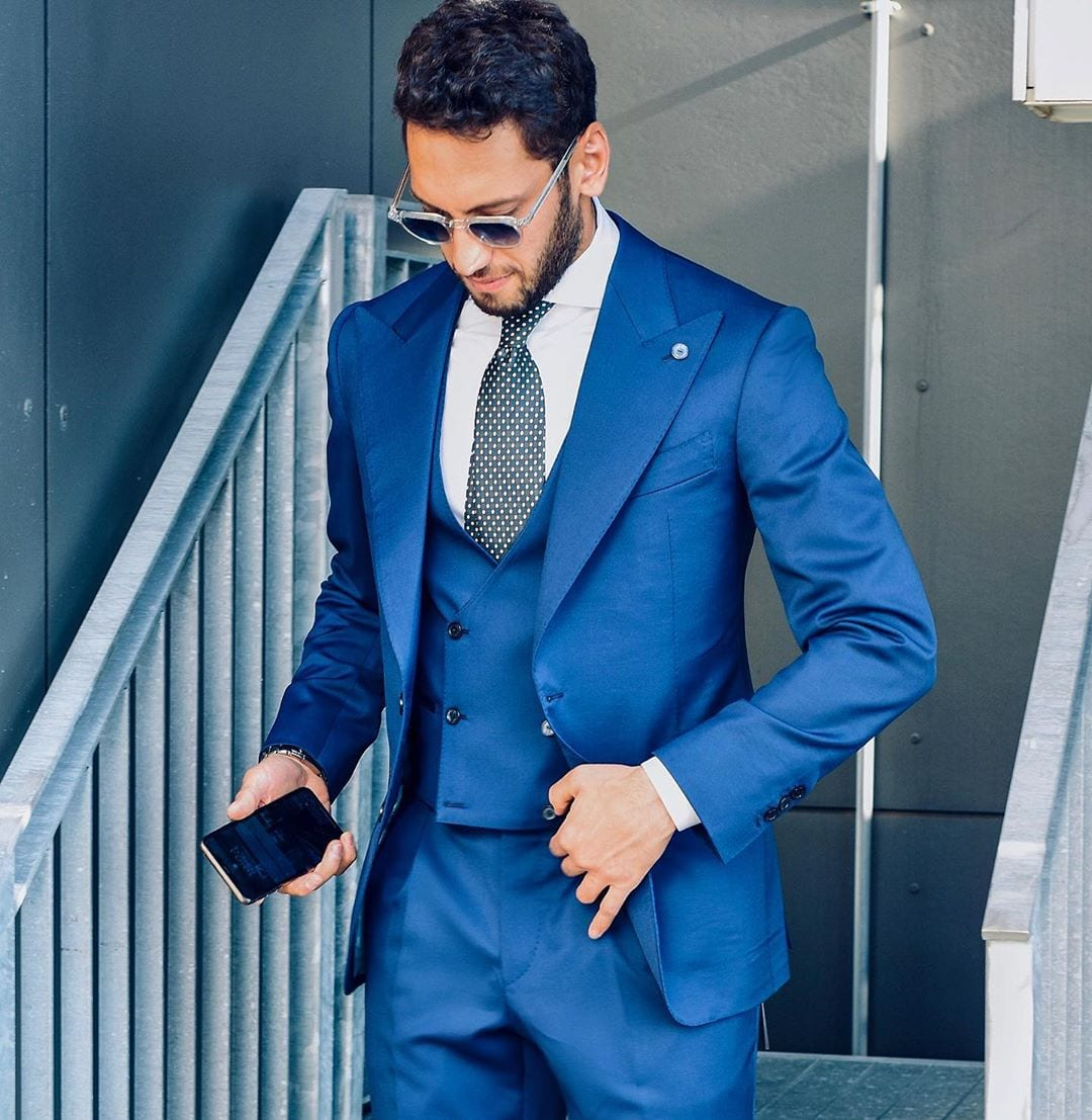 Persian Blue Three Piece Lounge suit for men