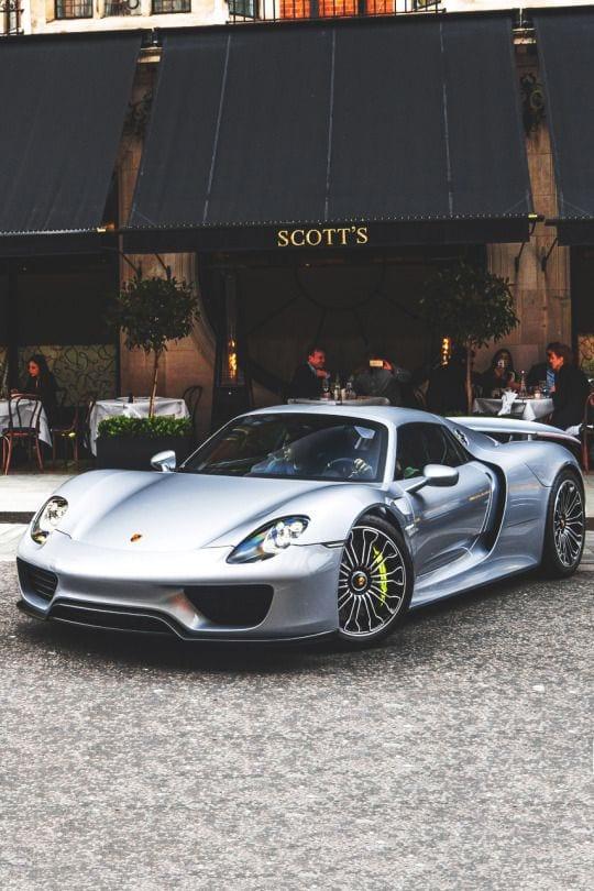 Porsche 918 spyder SILVER