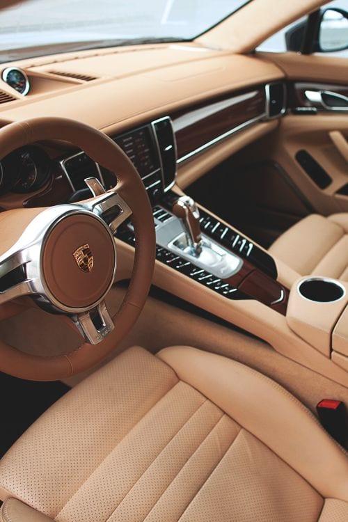 Porsche luxury car interior