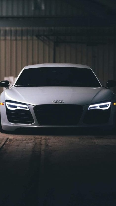 AUDI R8 WHITE WALLPAPER