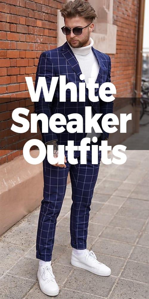 Blue Suit with White turtleneck ideas for men