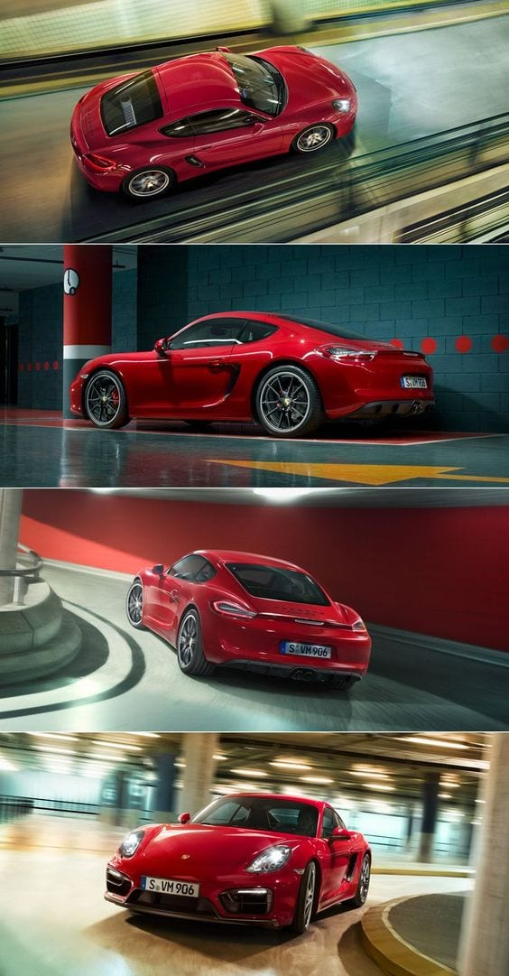 PORSCHE 718 CAYMAN RED SPORTS