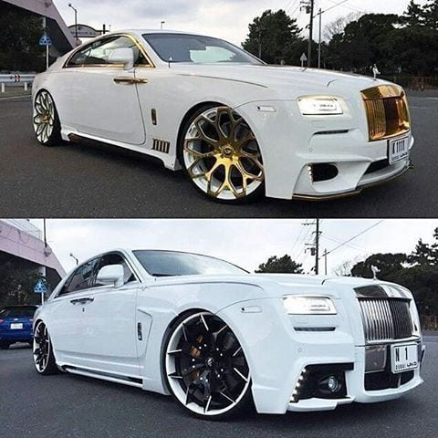 ROLLS ROYCE WHITE CUSTOM CARS