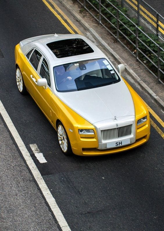 Rolls Royce Ghost YELLOW AND WHITE WALLPAPER
