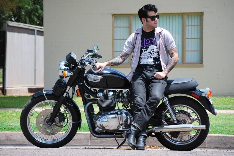 fashion motorcyclist