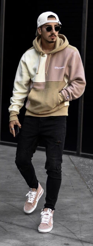 Colorblock Hoodie- Street Style Fashion