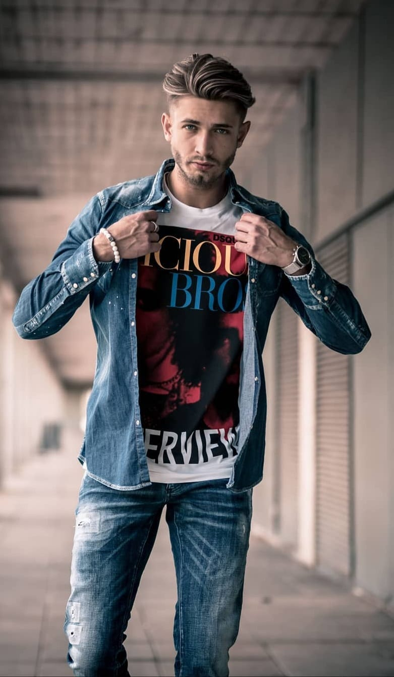 Denim Jeans and Denim Jacket Outfits for men