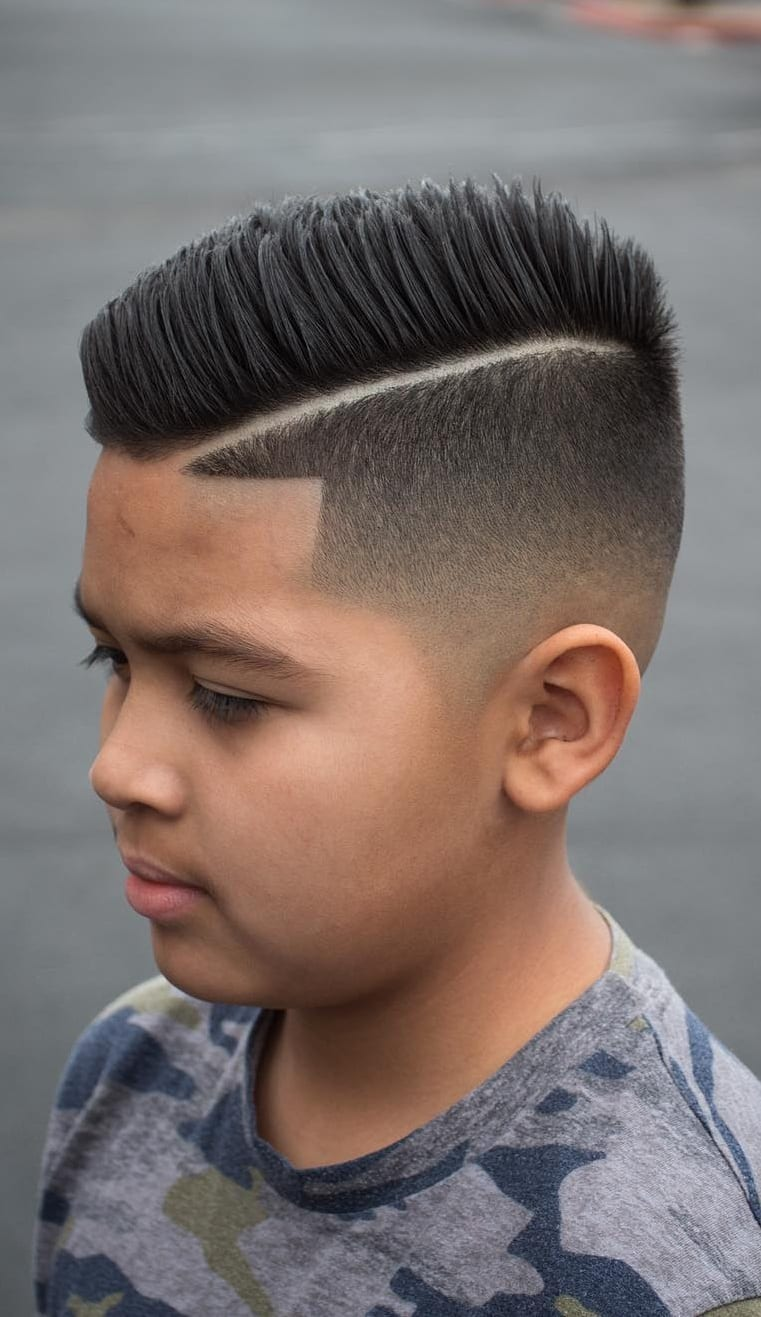 Spike and Fade, kids Haircut for boys ⋆ Best Fashion Blog