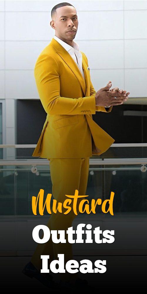 Mustard Suit Outfit Idea For Men