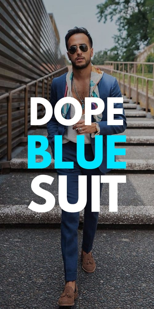 Dope Blue Suit Outfits 2019