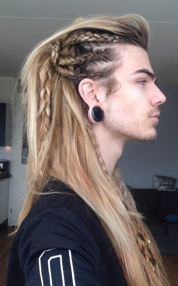 Long Hair Braid Hairstyle for men