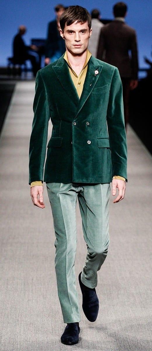 Mens Green Velvet Blazer Outfit