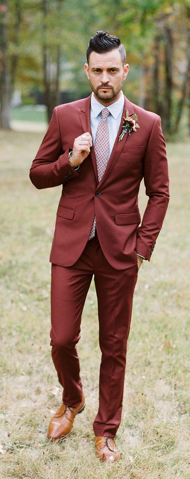 Wedding Suit Ideas for Fall