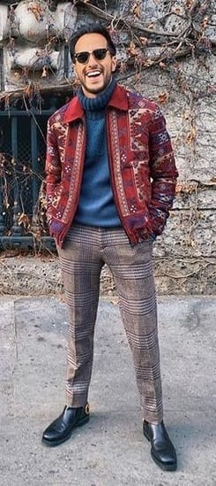 Knitwear Jacket for Mens Winter Outfit