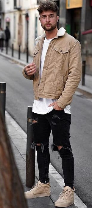 Trucker Jacket Outfit for Men
