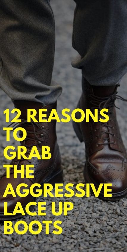 12 Reasons to grab the aggressive Lace Up Boots