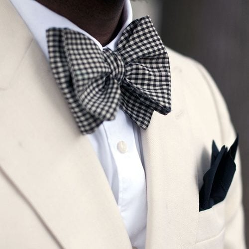 Black-And-White-Checked-Bow-Tie