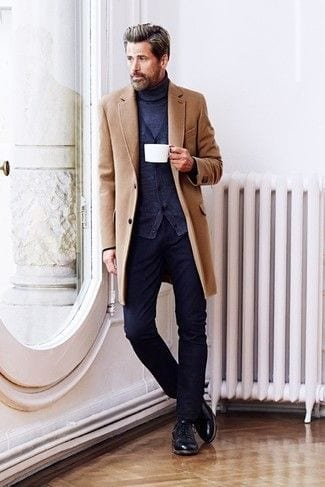 Light-Brown-Overcoat-with-turtle-neck-sweater-for-men-1