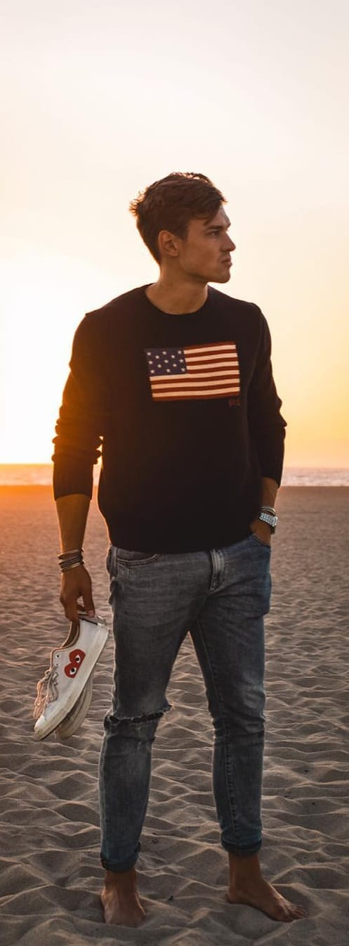 Stunning-Crew-Neck-T-shirt-Outfit-Ideas-For-Men