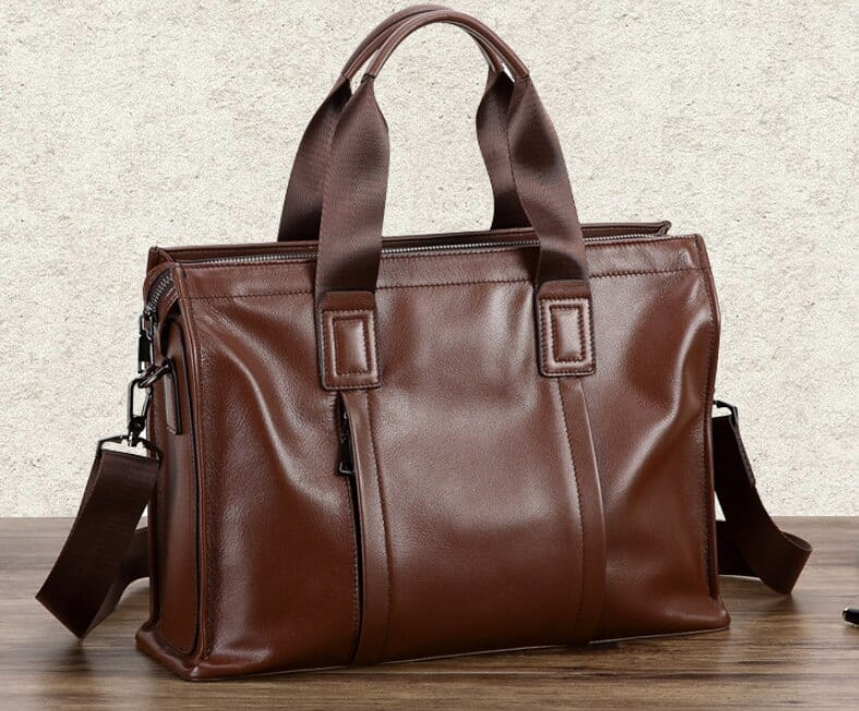 Mens Classic Leather Laptop Bag