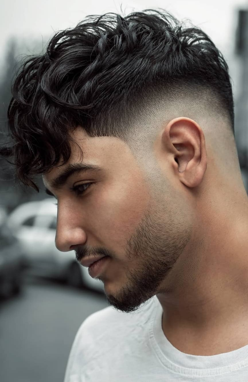 Messy Hair Fade Haircut for Men to try in 2020